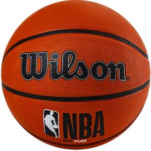Мяч баскетбольный WILSON NBA DRV Plus, арт.WTB9200XB05 р.5, резина, бутил.камера, оранжевый