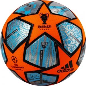Мяч футбольный  ADIDAS Finale PRO WTR арт.GK3475,р.5, 24п, FIFA PRO, ПУ, термосш, оранж--