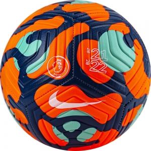 Мяч футбольный  NIKE Premier League Strike арт.DC2210-809,р.4,12 панелей, ПУ, маш.сш, оранж-синий