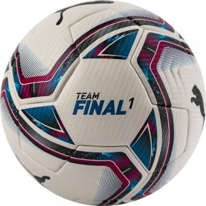 Мяч футбольный  PUMA Teamfinal 21.1 арт.08323601,р.5, ПУ, FIFA Pro, термосш, белый
