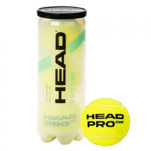 Мяч теннисный HEAD Pro Comfort 3B,арт.577333, уп.3 шт,сукно,нат.резина,желтый