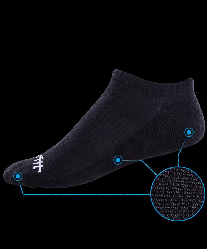 Носки низкие c амортизацией SW-207, черный, 2 пары, Starfit