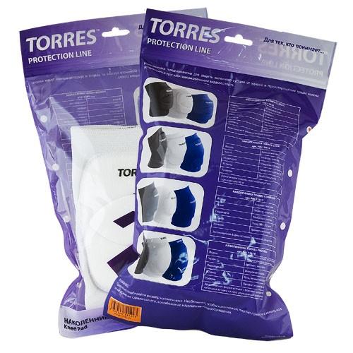Наколенники спортивные TORRES Classic , белый,р.L, арт.PRL11016L-01, нейлон, ПУ