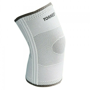 Суппорт колена TORRES арт.PRL11010XL, с боковыми вставками, р.XL, нейлон, серый