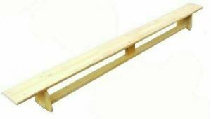 Скамейка гимнастическая клееное дерево (р-р 2500х230х270), деревянные ножки