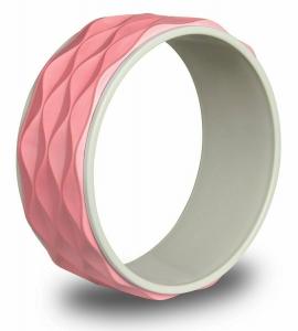 Колесо для йоги рифленое INDIGO 17103 IRBL 34 см розовый