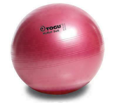 Мяч гимнастический TOGU My Ball Soft 55 см. красный перламутровый