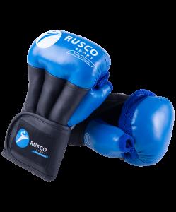 Перчатки для рукопашного боя PRO, к/з, синий, Rusco