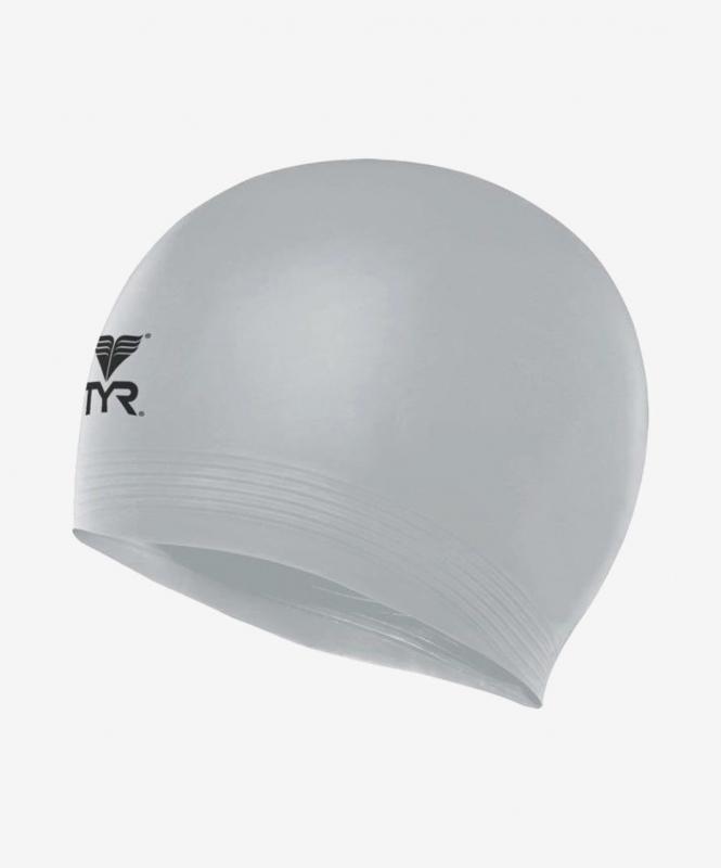 Шапочка для плавания Latex Swim Cap, латекс, LCL/040, серебристый, TYR