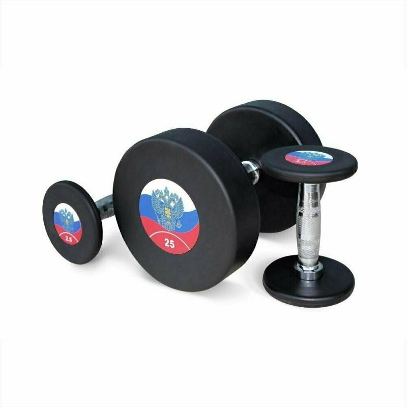 Гантельный ряд 2,5-25 кг. Fitnessport FDS-11