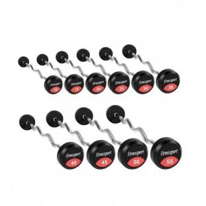 Набор фиксированных штанг Fitnessport 10-55 кг. FDS 22