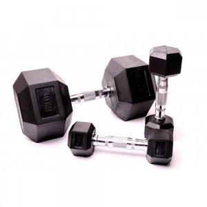 Гантельный ряд гексагональный Fitnessport 1-10 кг. D-03