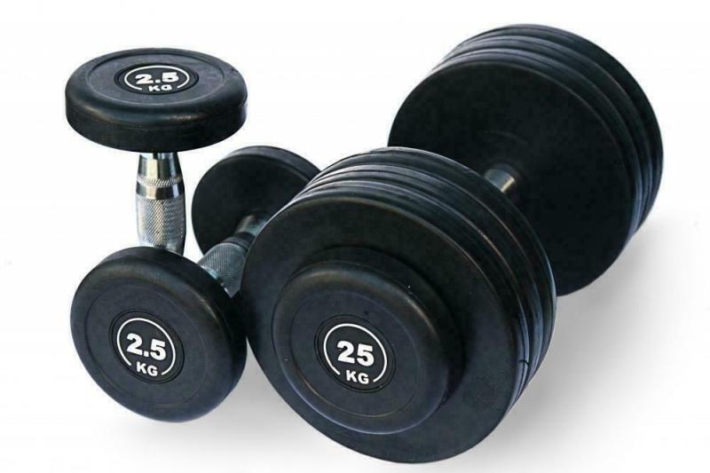 Гантельный ряд 2,5-25 кг. Fitnessport FDS-09