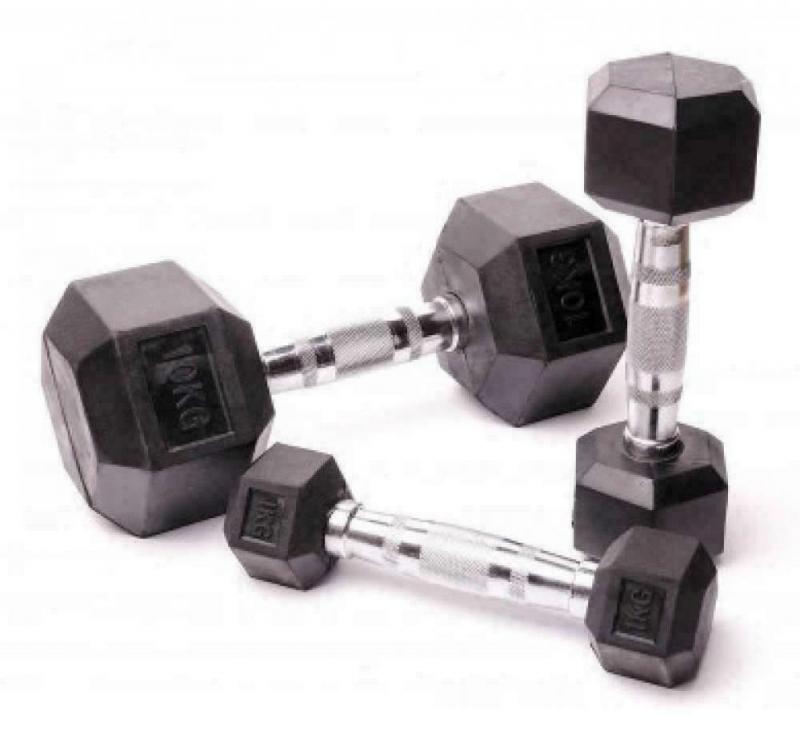 Гантельный ряд гексагональный Fitnessport 2.5-25 кг. D-05