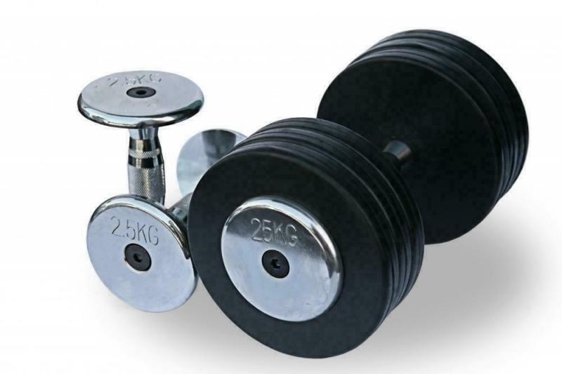 Гантельный ряд 2,5-30 кг. Fitnessport FDS-03