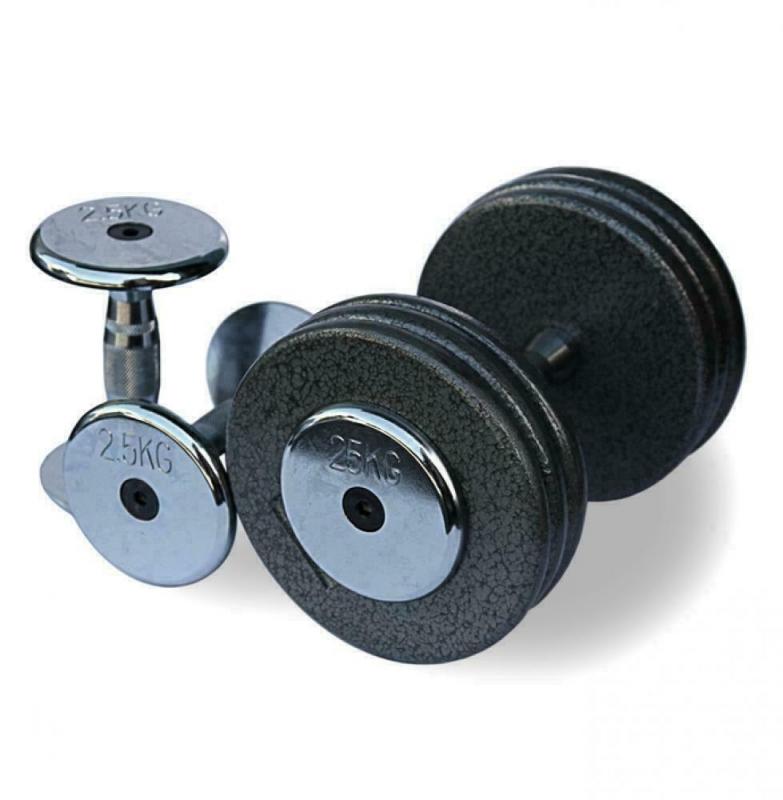 Гантельный ряд 2,5-25 кг. Fitnessport FDS-05