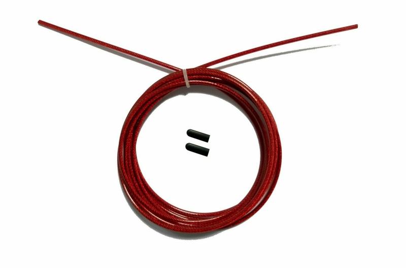 Трос с заглушками скоростной скакалки красный Original FitTools FT-JRCORD-RED
