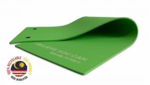 Мат для аэробики 10 мм зеленый с кольцами Original FitTools FT-MPM10G (VARUNA)