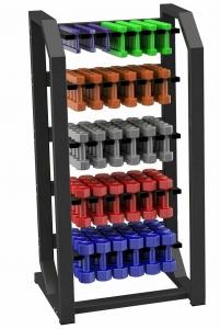 Стойка для виниловых гантелей вертикальная (до 60 пар) Original FitTools FT-VertVDR-60
