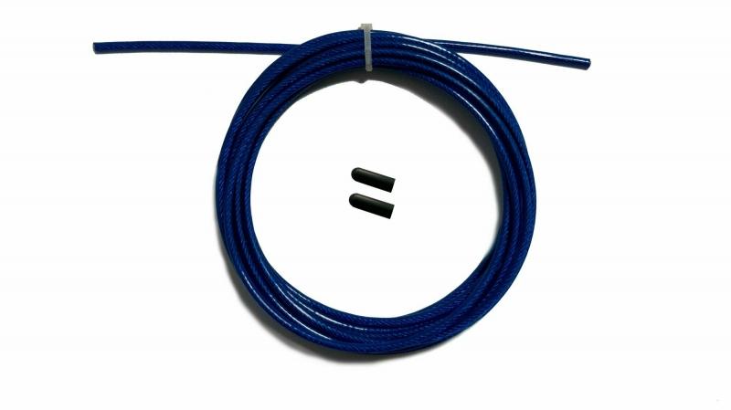 Трос с заглушками скоростной скакалки синий Original FitTools FT-JRCORD-BLUE