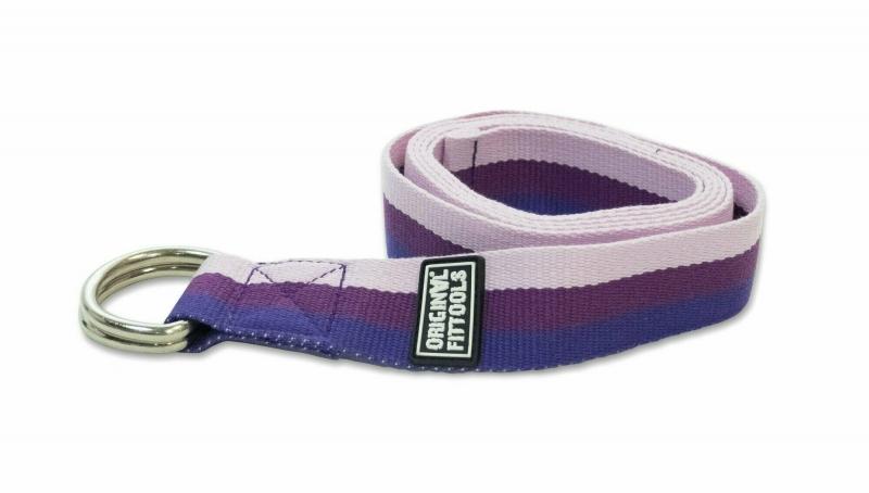 Ремешок для йоги 182 см, трехцветный Original FitTools FT-YSTP-3COLOR