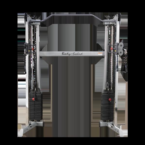 Сдвоенная блочная стойка с двумя весовыми стеками по 72,5 кг Body-Solid GDCC200