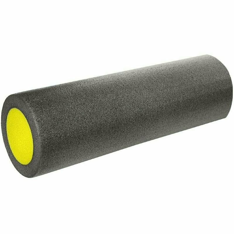 Ролик для йоги полнотелый 2-х цветный (черно/желтый) 45х15см. B31511-3