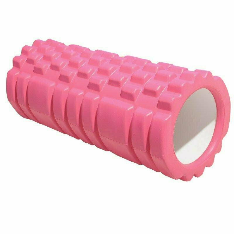 Ролик для йоги (розовый) 33х13,5см ЭВА/АБС E29389