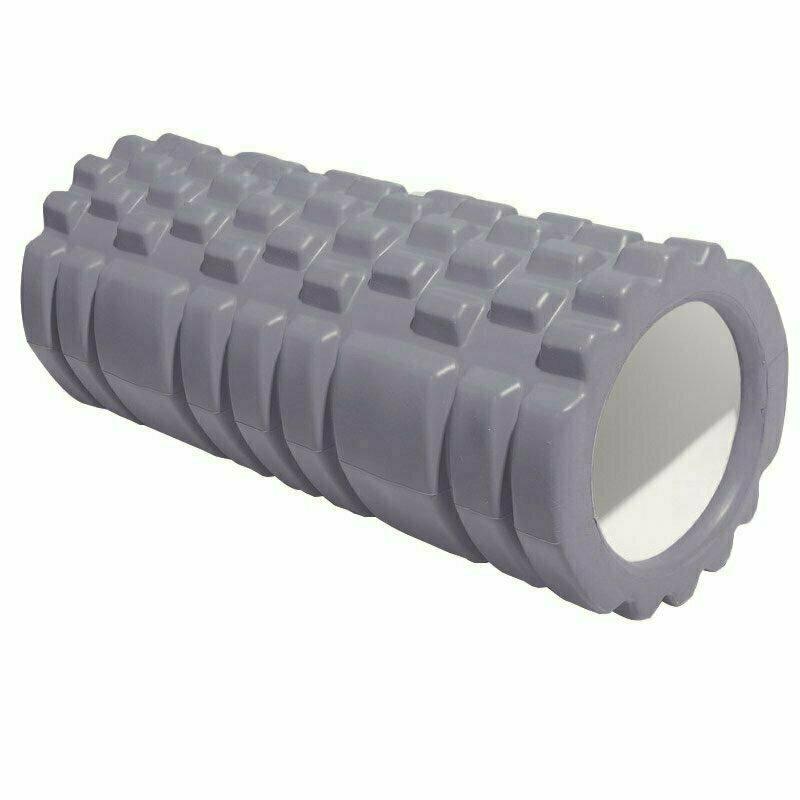 Ролик для йоги (серый) 33х13,5см ЭВА/АБС E29389