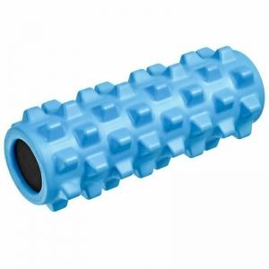 Ролик для йоги полнотелый (голубой) 33х12см., ЭВА/ПВХ/АБС B33089