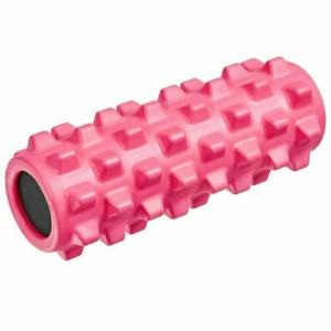 Ролик для йоги полнотелый (розовый) 33х12см., ЭВА/ПВХ/АБС B33090
