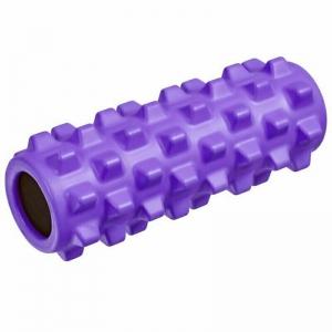 Ролик для йоги полнотелый (фиолетовый) 33х12см., ЭВА/ПВХ/АБС B33091