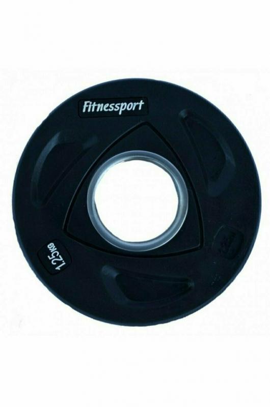Диск олимпийский обрезиненный цветной Fitnessport 1.25 кг. RCP20