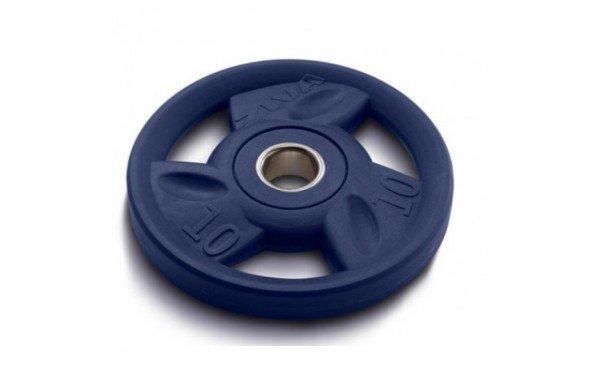 Диск олимпийский 10 кг ZIVA серии ZVO уретановое покрытие синий ZVO-DCPU-1404
