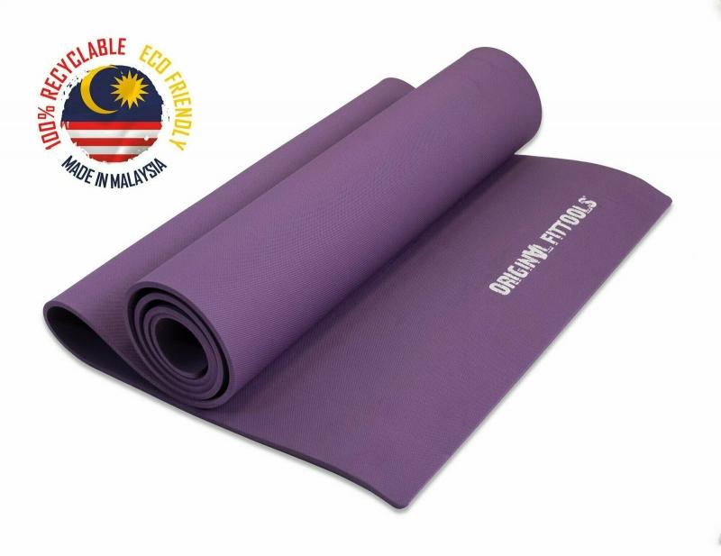 Коврик для йоги 1730х600 6 мм фиолетовый Original FitTools FT-YGM-6TPE (LAKSHMI)