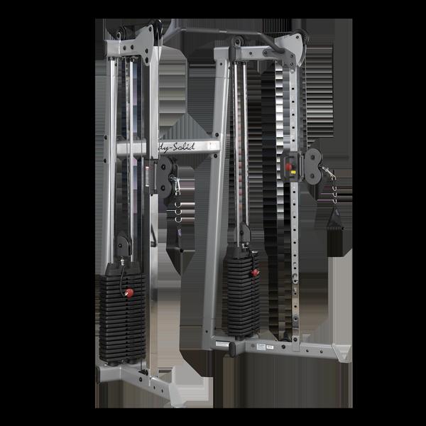Кроссовер угловой с двумя весовыми стеками по 72,5 кг Body-Solid GDCC210