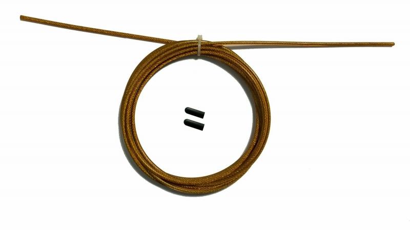 Трос с заглушками скоростной скакалки оранжевый Original FitTools FT-JRCORD-ORANGE