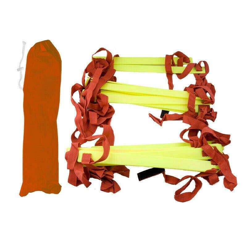 Лестница для тренировок дл. 5.4 м. шир. 51 см. пластик, полиэстер, желт-красная