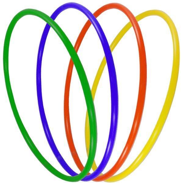 Обруч пластиковый 60 см. цвет в ассортименте