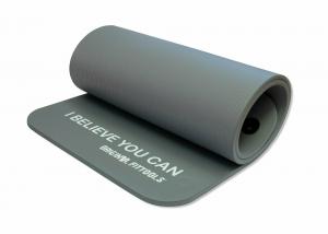 Мат для аэробики NBR 12,5 мм серый с кольцами Original FitTools FT-YGR-125NBR-GYP