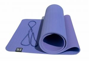 Коврик для йоги 6 мм двуслойный TPE фиолетово-сиреневый Original FitTools FT-YGM6-2TPE-1