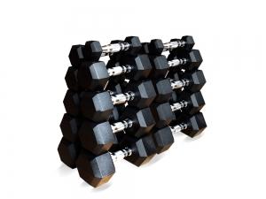 Набор гексагональных гантелей 10 пар от 1 до 10кг ZSO FT-HEX-SET-110T