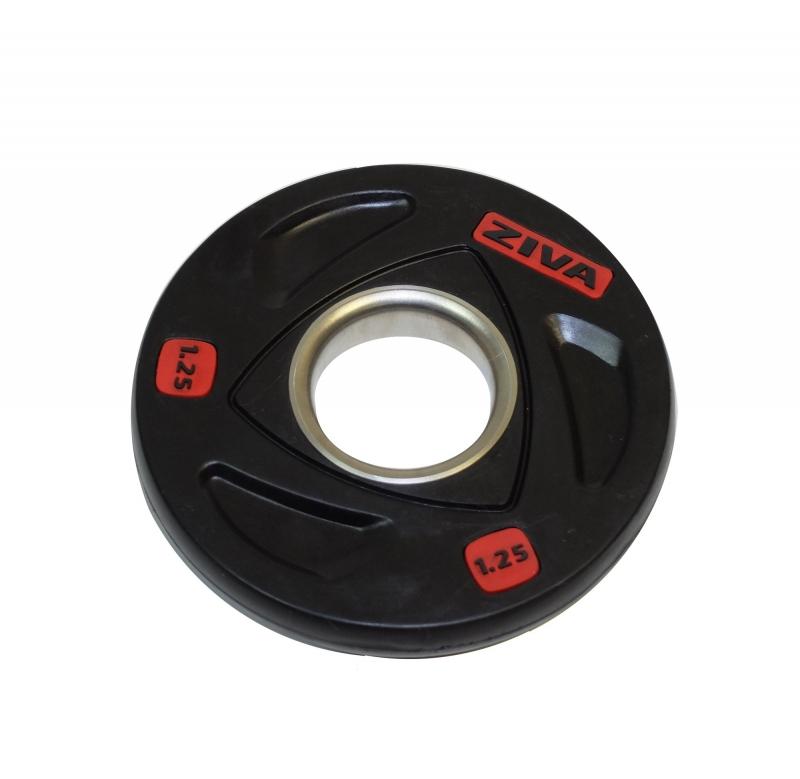 Диск олимпийский 1,25 кг ZIVA серии ZVO резиновое покрытие ZVO-DCRB-2301