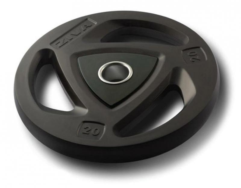 Диск олимпийский 20 кг ZIVA серии ZVO уретановое покрытие черный ZVO-DCPU-1406