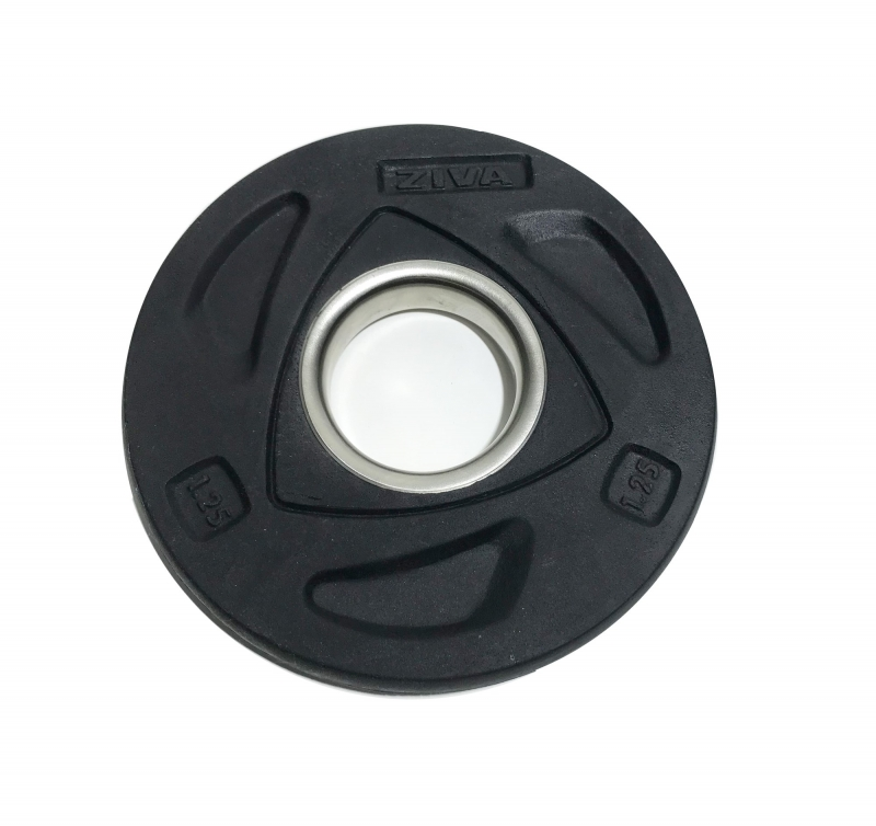 Диск олимпийский 1,25 кг ZIVA серии ZVO уретановое покрытие черный ZVO-DCPU-1401