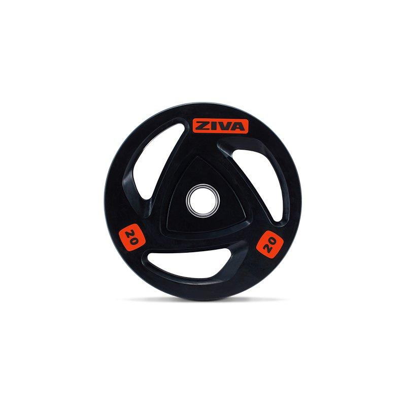 Диск олимпийский 25 кг ZIVA серии ZVO резиновое покрытие ZVO-DCRB-2307