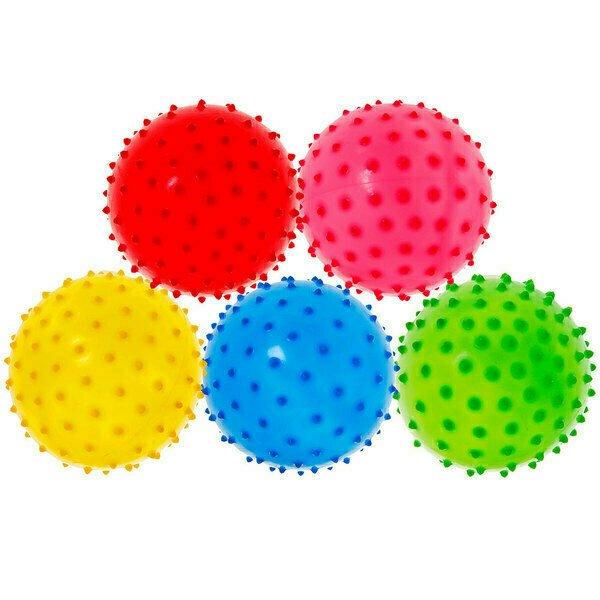 Мяч надувной с шипами d-8 см. (Mix) T07484