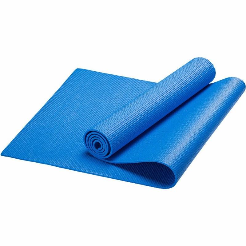 Коврик для йоги, PVC, 173x61x0,3 см (синий) HKEM112-03-BLUE