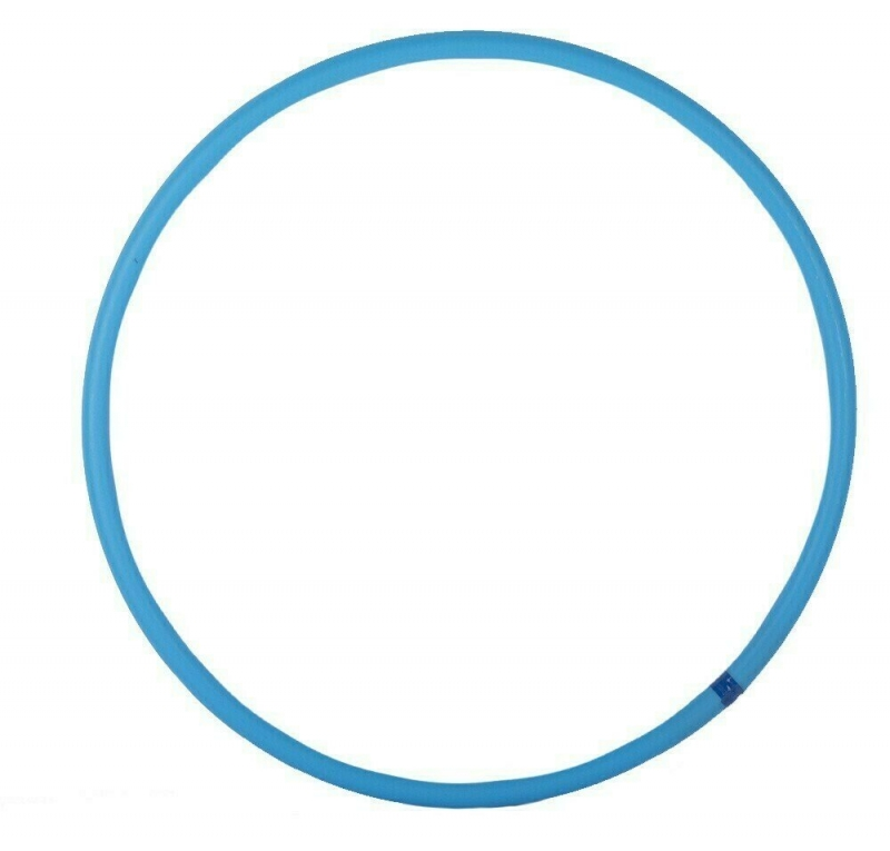 Обруч гимнастический пластиковый 60 см. (голубой)