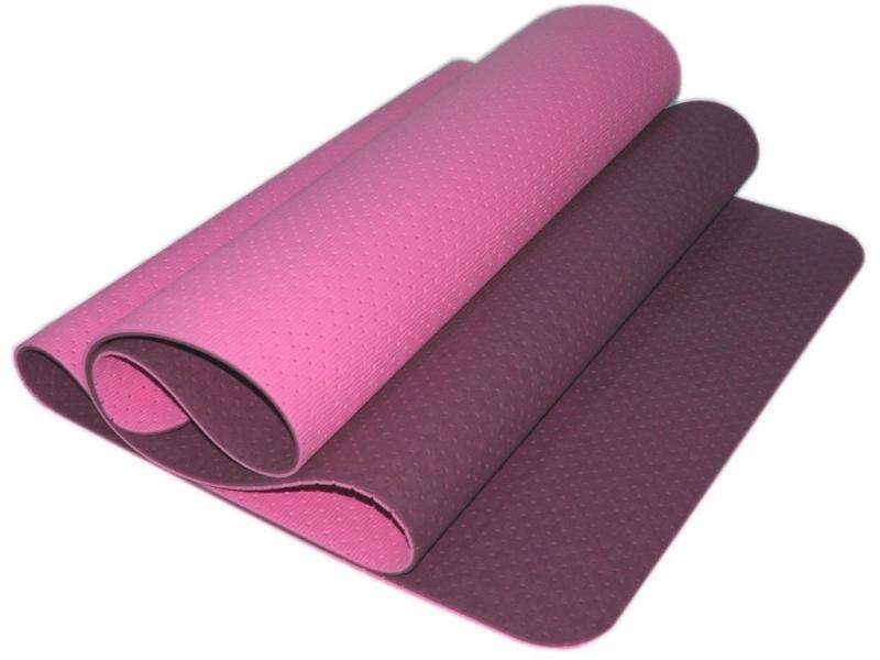 Коврик для йоги перфорированный 1800х600х0.5 мм. фиолетовый